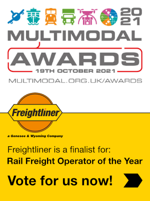 Multimodal 2021 - Vote for us as your Rail Freight Operator of the Year